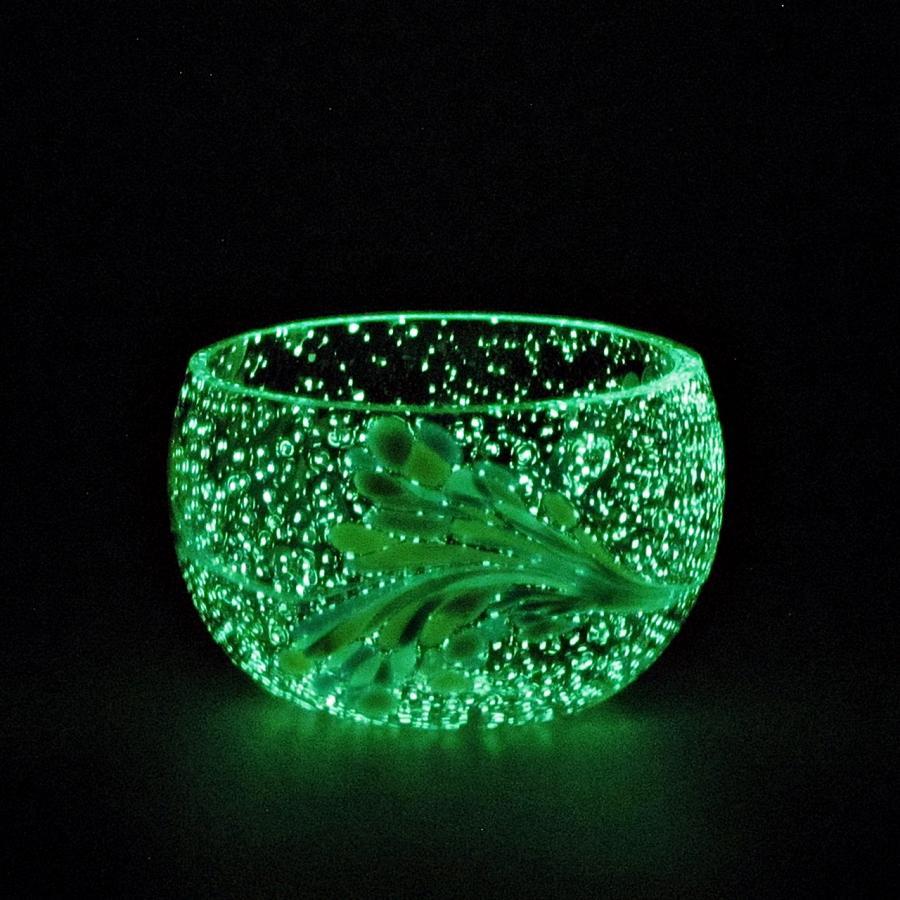 Teelicht Grün-Lumi Crememischung im dunkeln 1