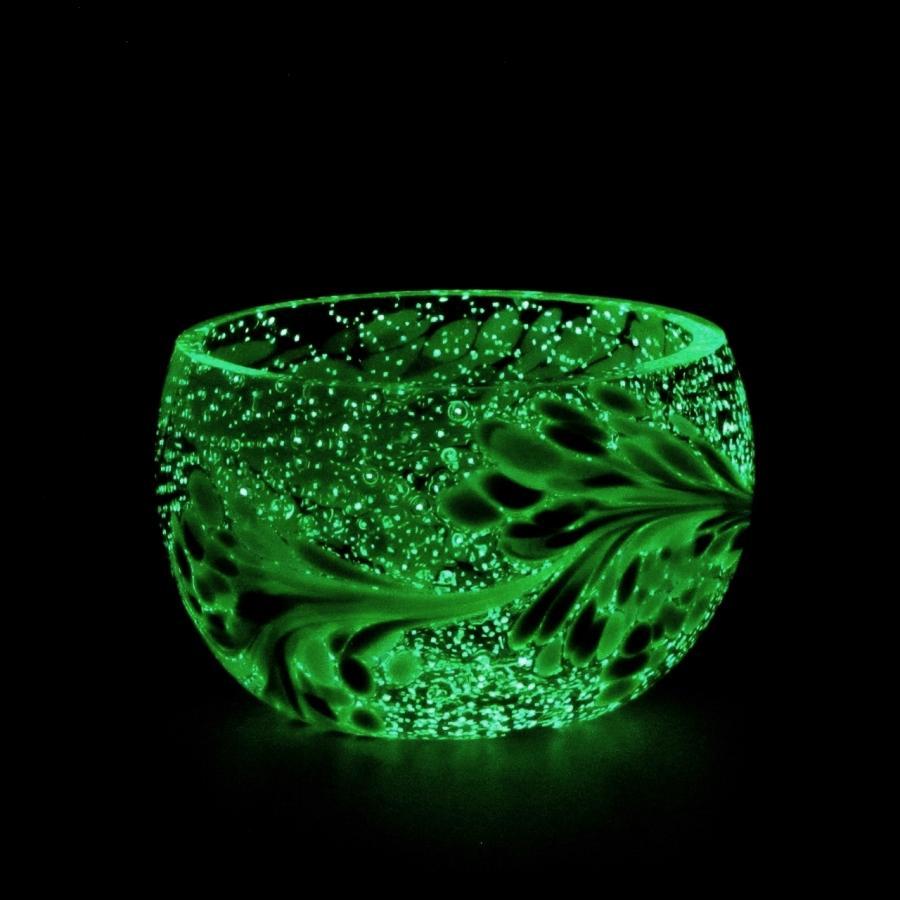 Teelicht Grün-Lumi Grünmischung im dunkeln 1
