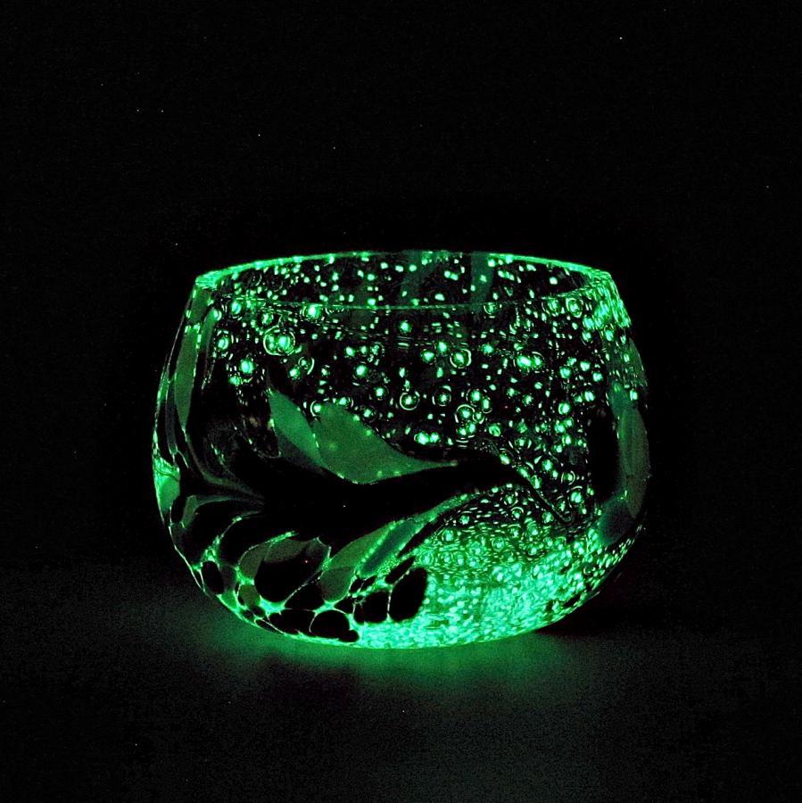 Teelicht Grün-Lumi Nachtmischung im dunkeln 1