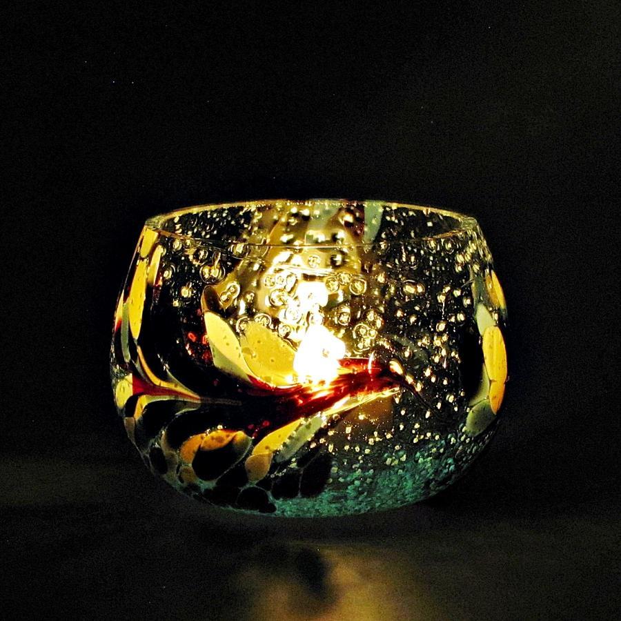Teelicht Grün-Lumi Nachtmischung im dunkeln 2