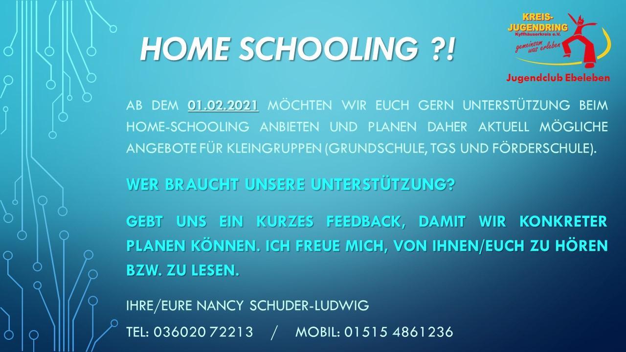 Bedarfsanfrage Homeschooling