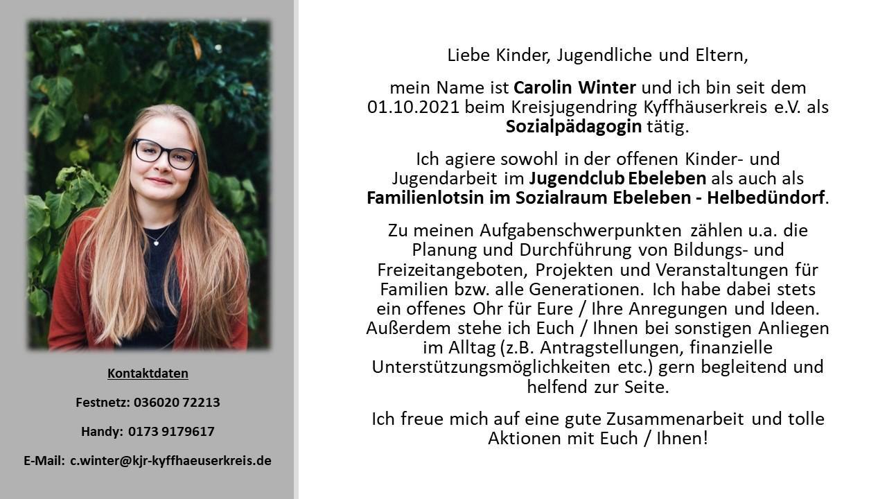 Vorstellung C. Winter