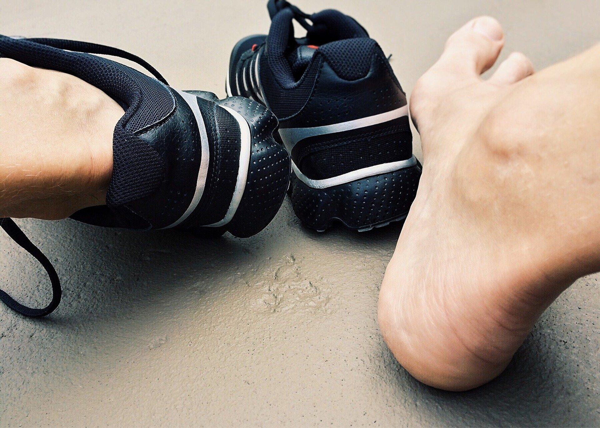 Ermüdungsbruch im Fuß.