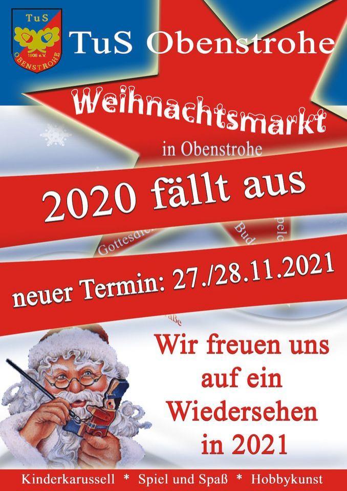 Absage Weihnachtsmarkt 2020