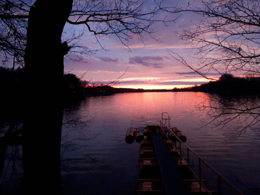 Sonnenuntergang am Liebenberger See