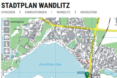 Stadtplan Wandlitz