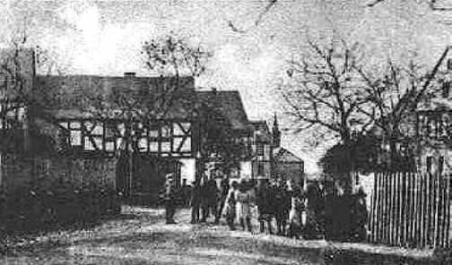 Altes Foto von der Zelser Dorfstraße 1925