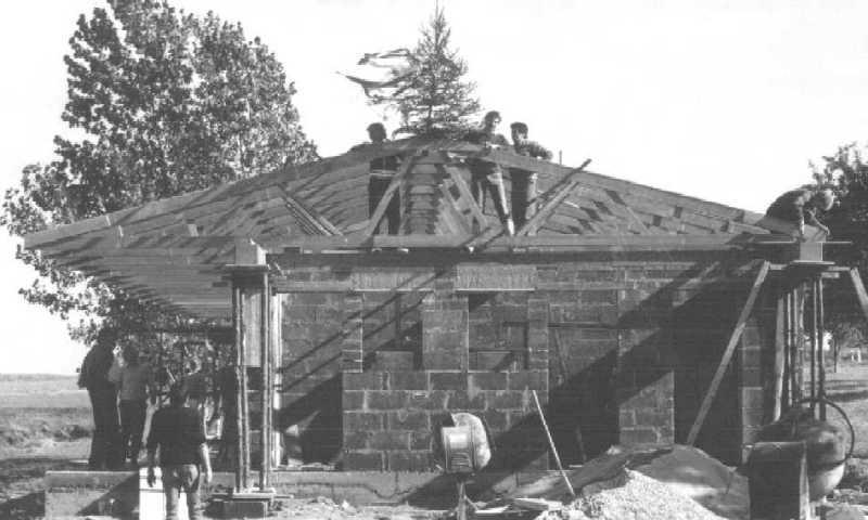 Das neue Vereinsheim im Rohbau