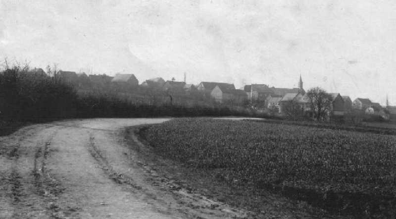 Die alte Sraße nach Petershausen