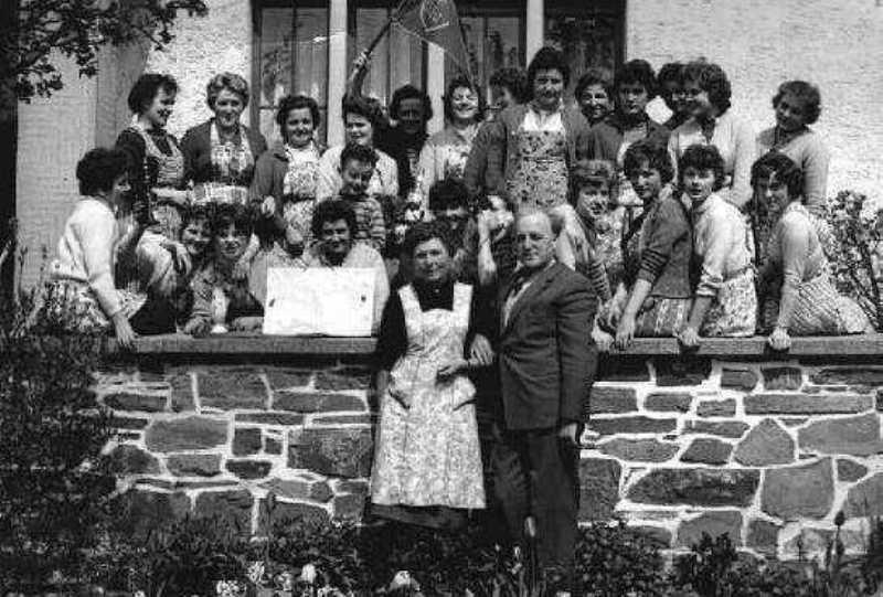 Die Strickereimannschaft um 1950
