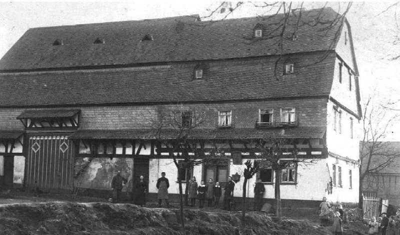Die Zelser Poststelle um 1910  (Haus Nr. 18)