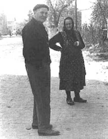 Andrise Marie mit Hiestasch Toni (Ende der 50er Jahre)