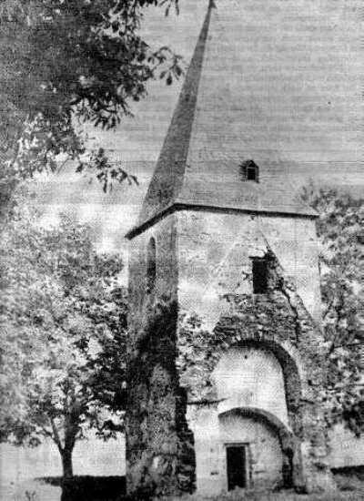 Turm der alten Kirche Petershausen