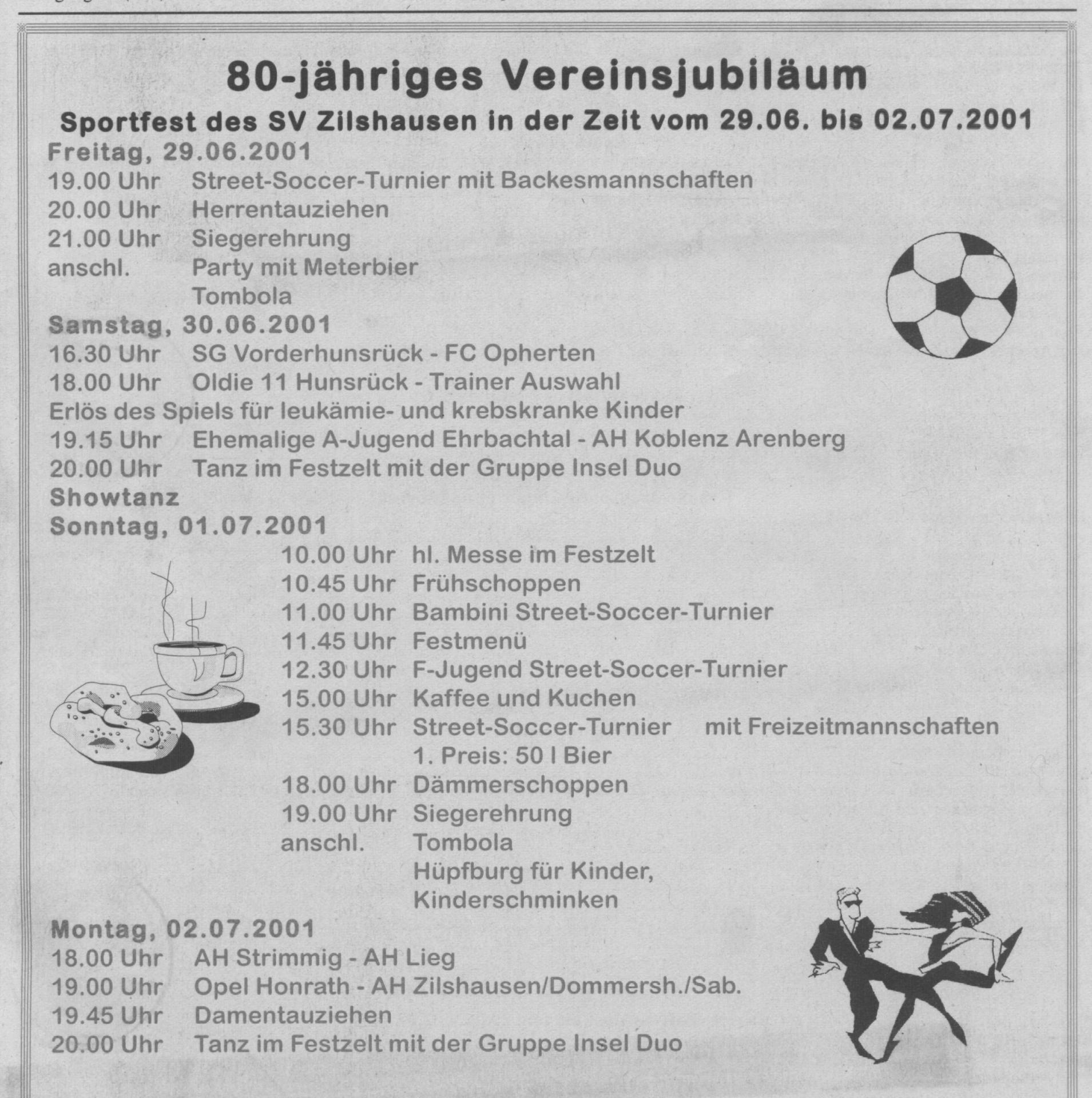80.Jahre Sportverein