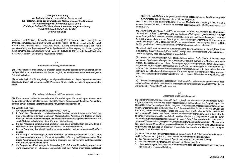 ThürSARS-CoV-2-MaßnFortentwVO-vom 12.05.2020 Seiten 1-2