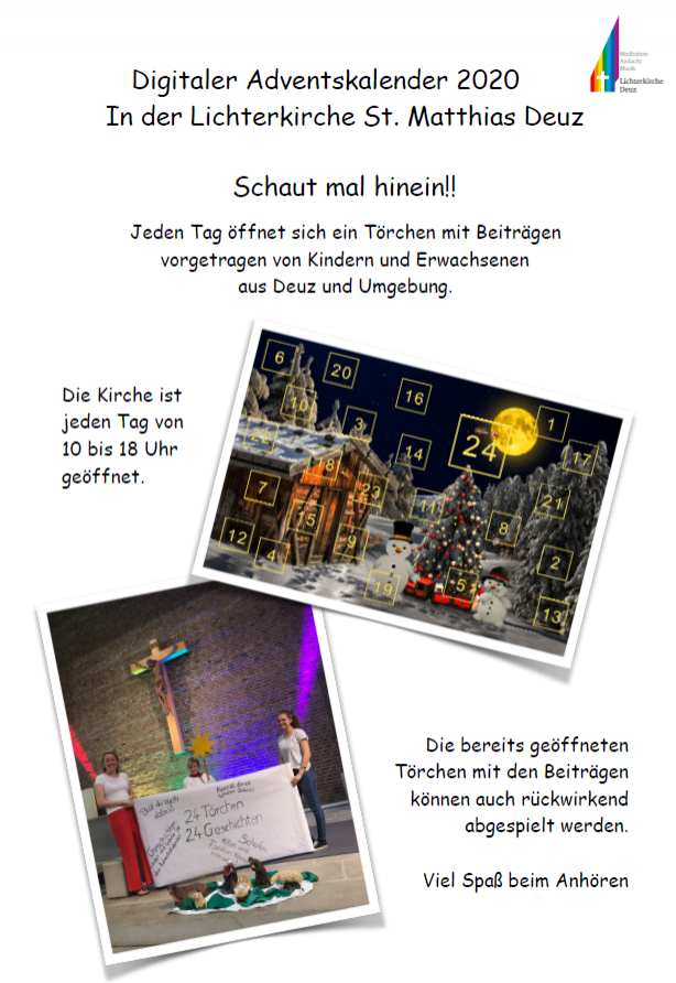 Flyer Adventskalender Lichterkirche Deuz
