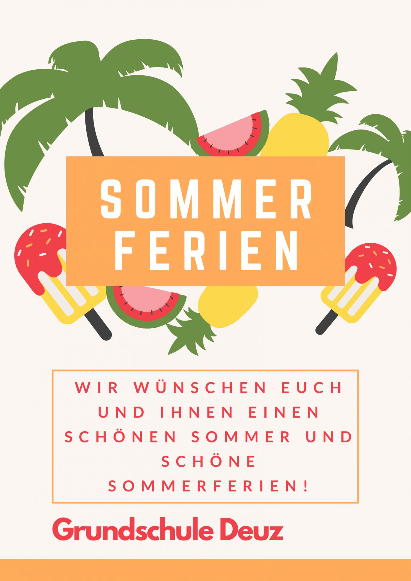 Sommerferien Grüße