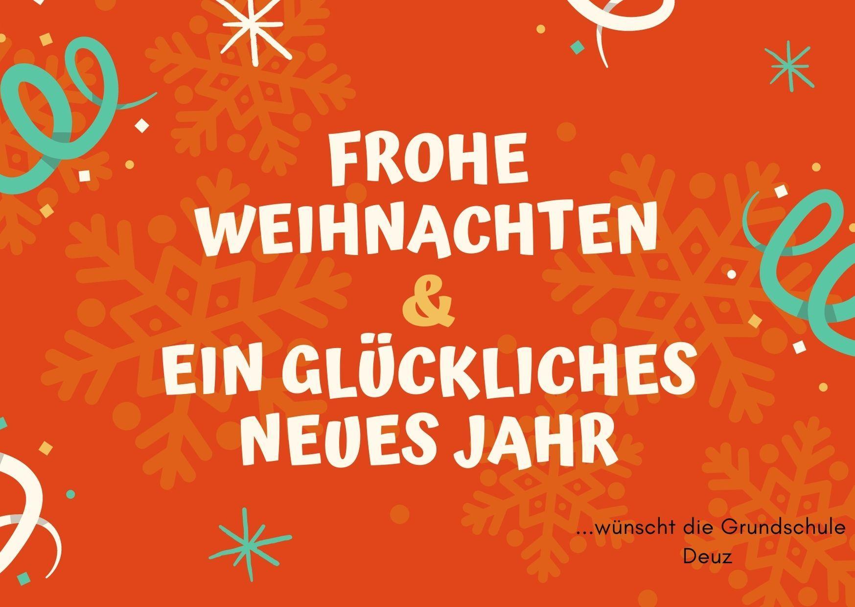 Weihnachtsgrüße GS Deuz 2020