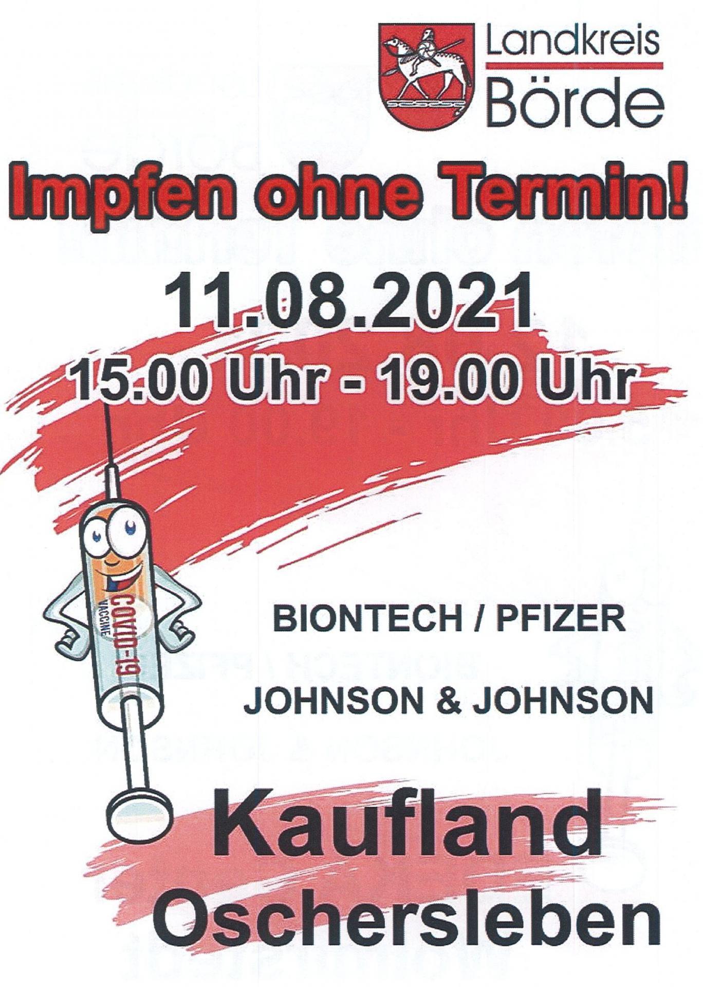 Impfbus - Standort Kaufland Oschersleben