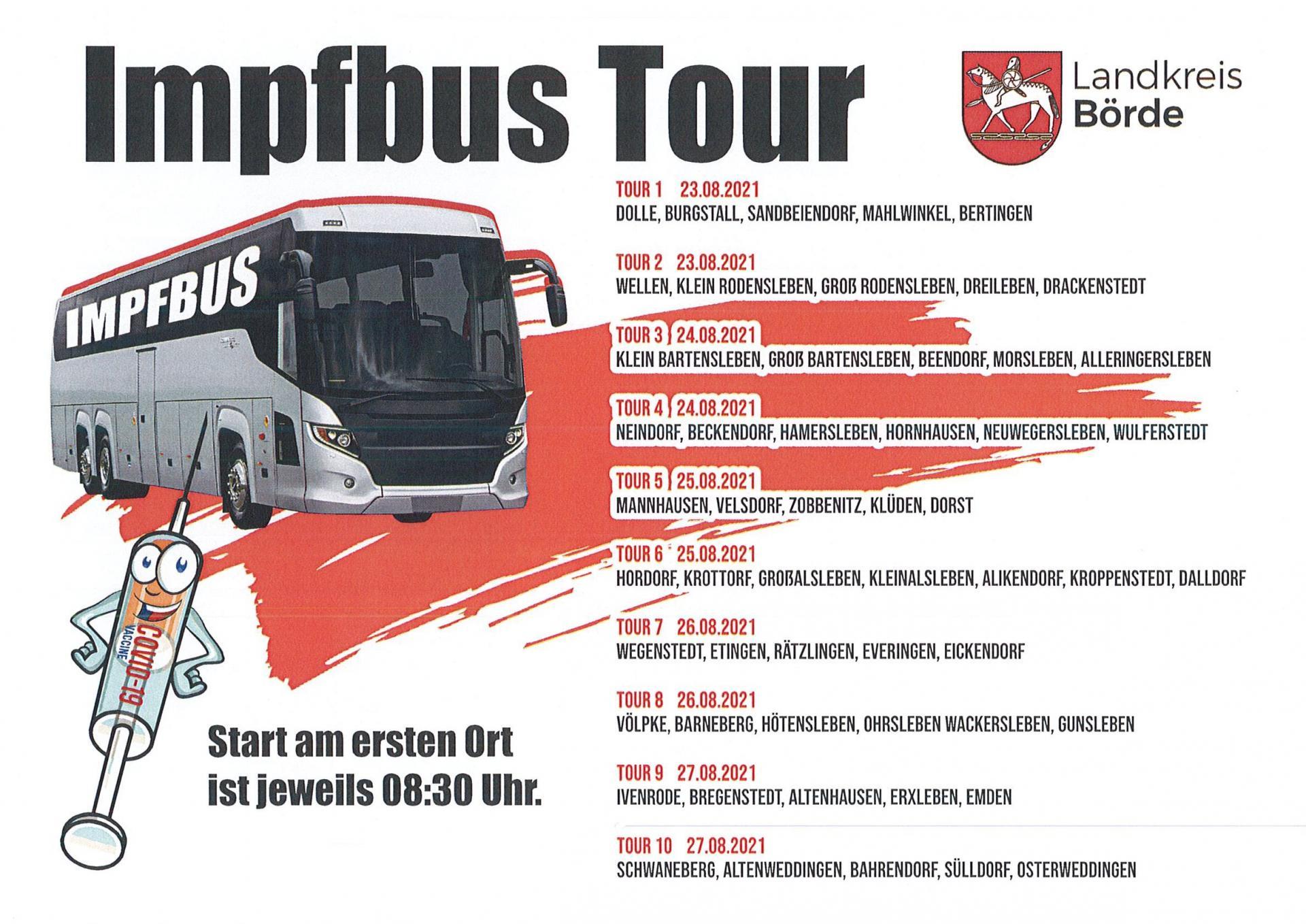 Tour - Impfbusse Landkreis Börde