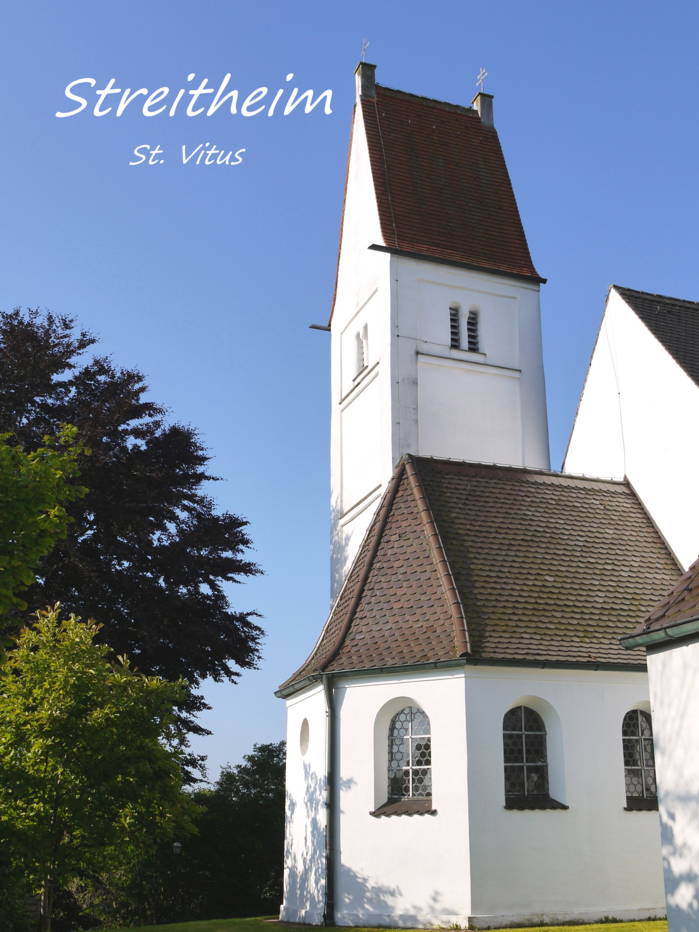 Streitheim, Kirchturm St. Vitus; Foto: Max Trometer
