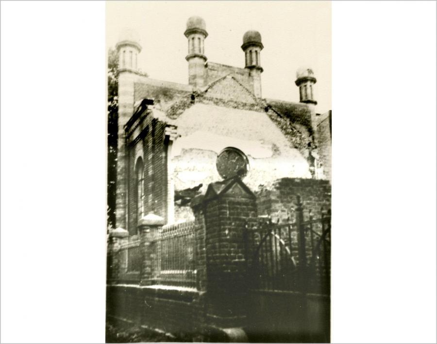 zerstörte Synagoge