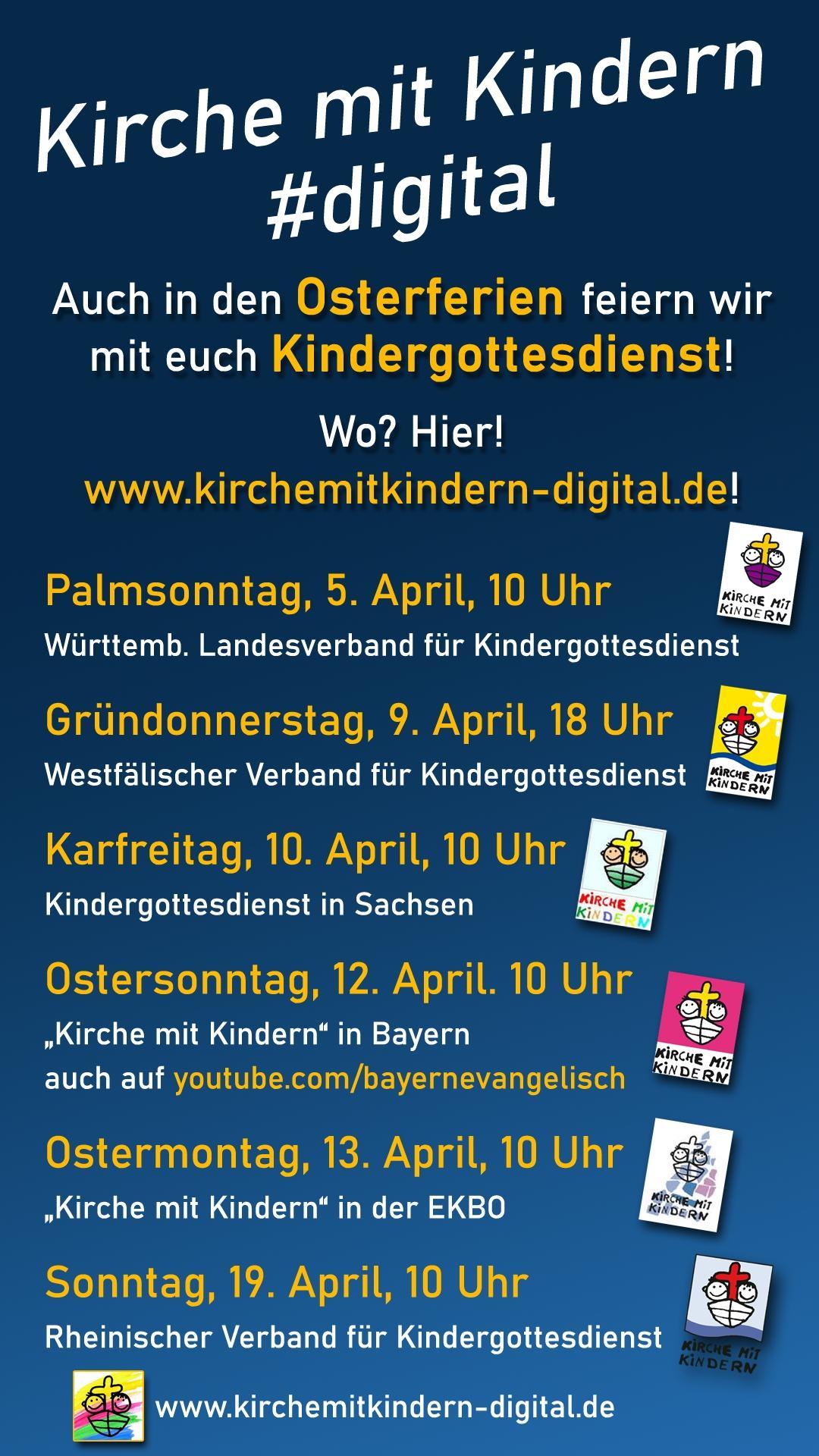 Digitale Angebote Kindergottesdienst