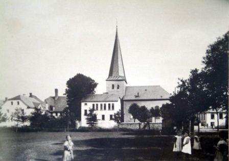1828 Schulneubau im Kirchgarten