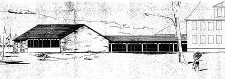 1953 - Anbau nach Süden und Westen