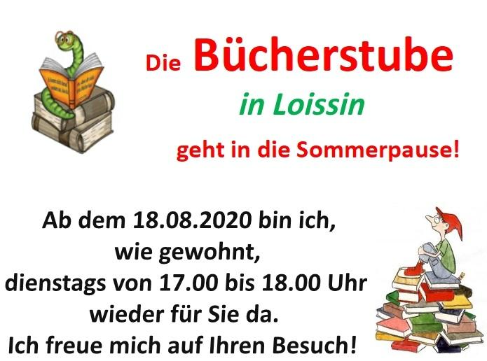 Bücherstube Sommerpause 2020