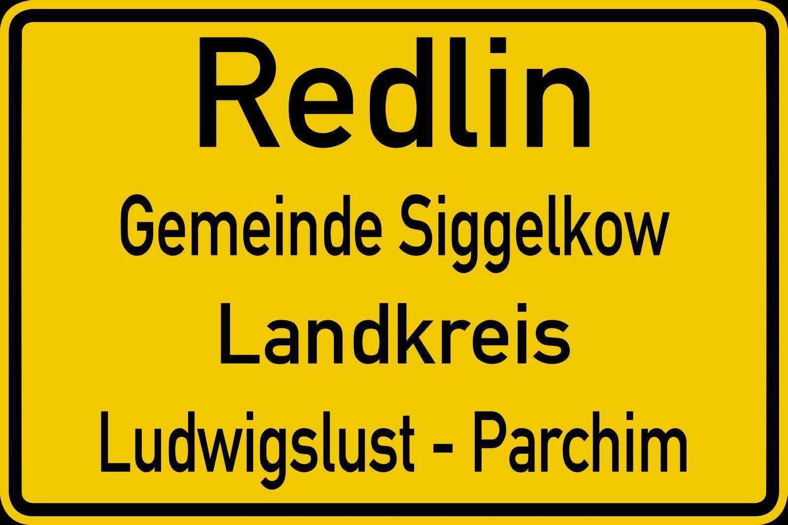 Ortsschild Redlin