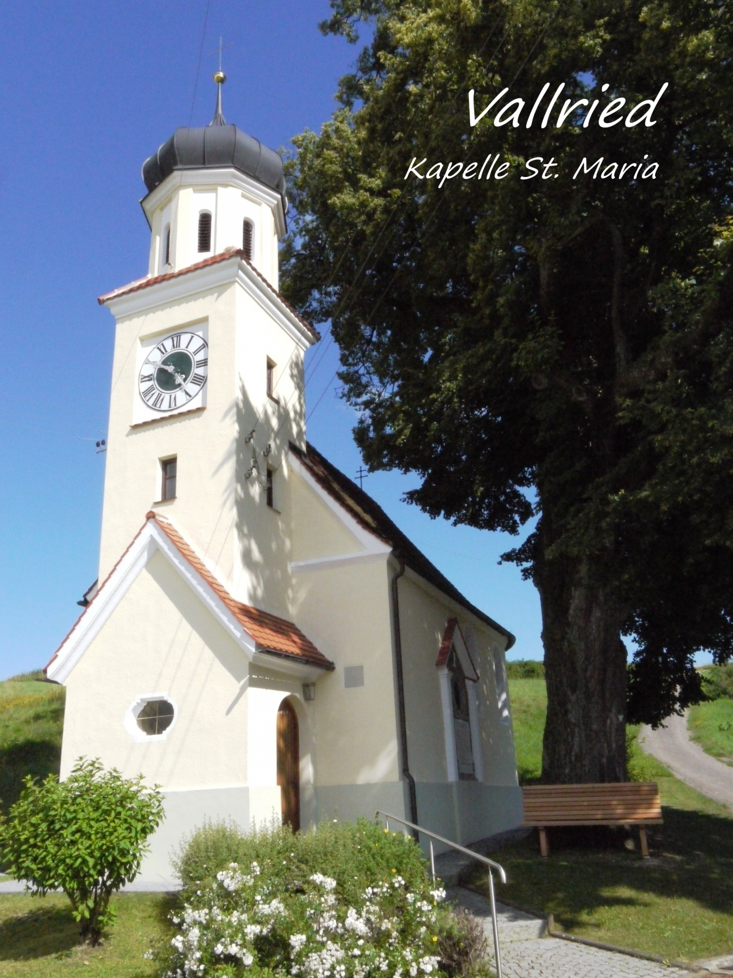 Vallried, Kirchturm der Kapelle St. Maria; Foto: Max Trometer