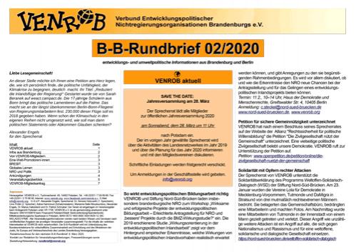 B-B-Rundbrief 2/2020 von VENROB e.V.