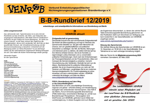 B-B-Rundbrief 12/2019 von VENROB e.V.