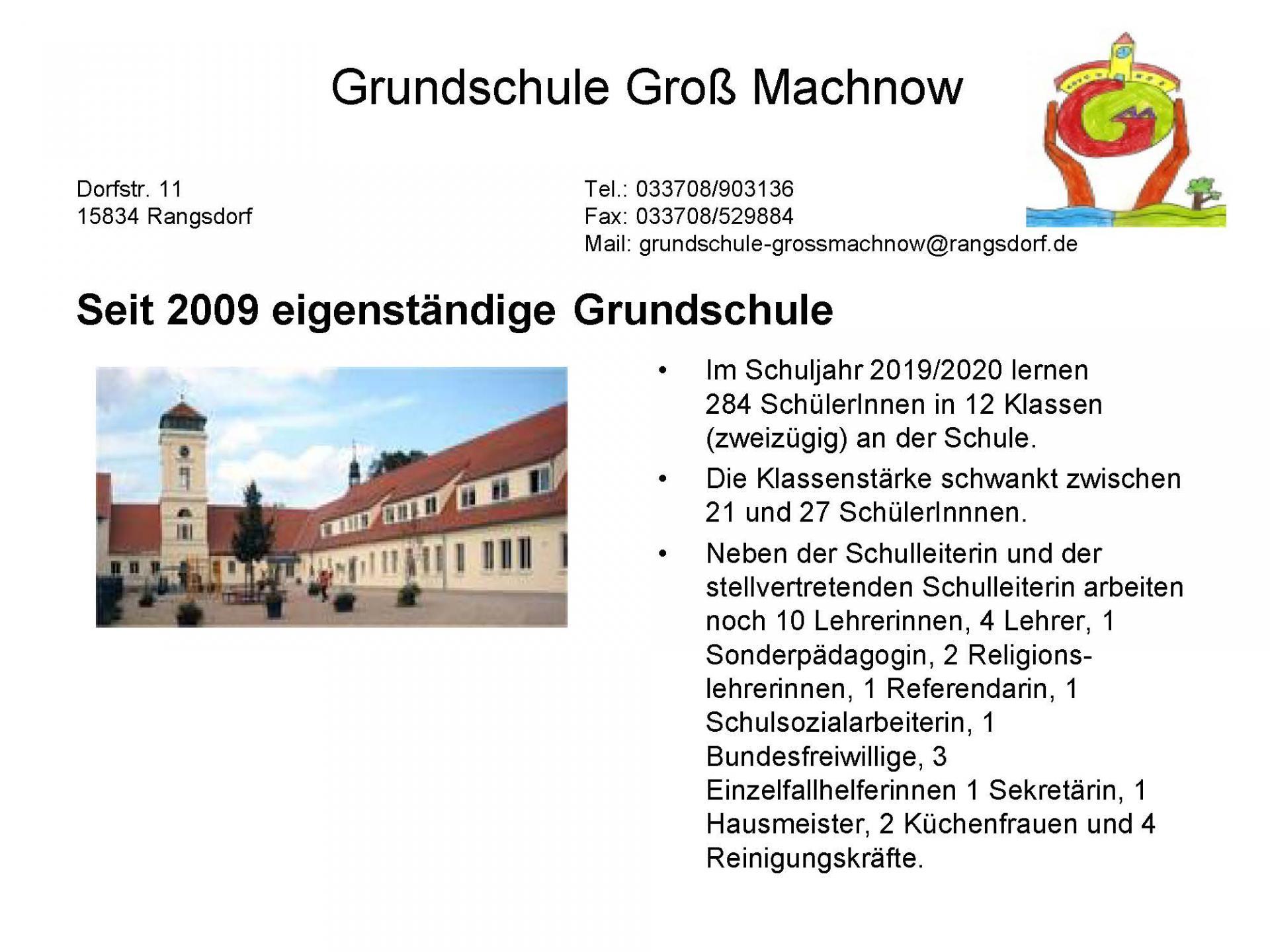 © Foto: Grundschule Groß Machnow - Schulprogramm - Seite 1