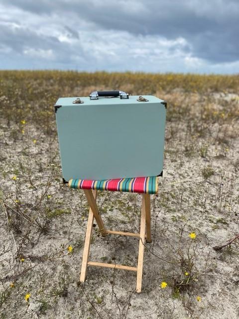 Gedankenkoffer (Prototyp) der Künstlerin Kathrin Ollroge, Foto: Kathrin Ollroge