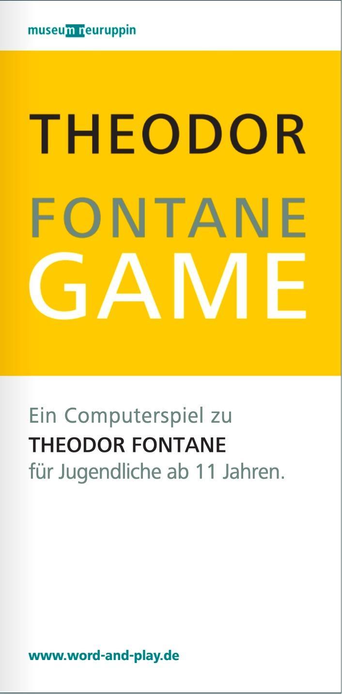 Titelseite Flyer Theodor Fontane Game