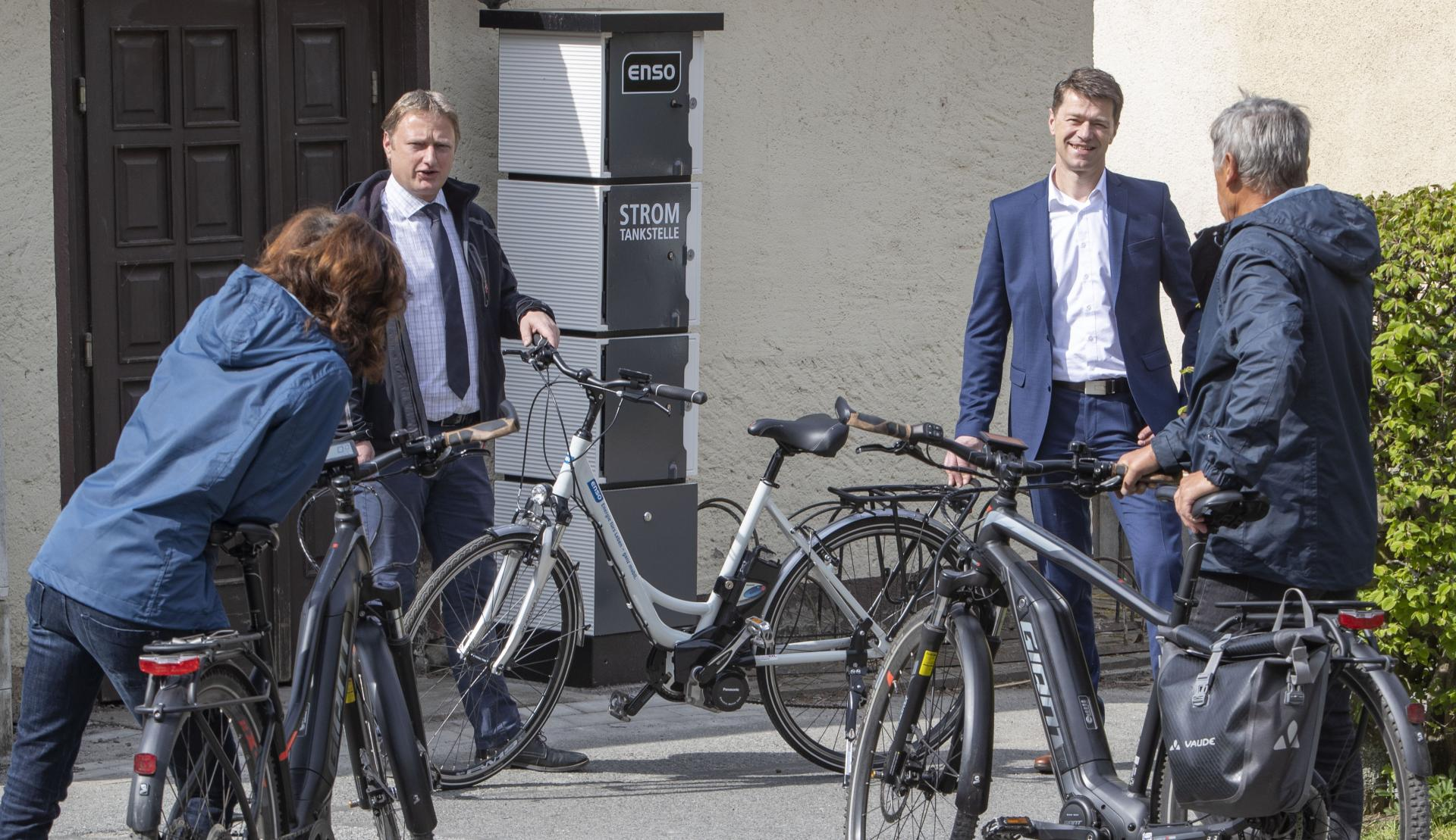 E-Bike Ladesäule am Stausee Sohland a.d. Spree