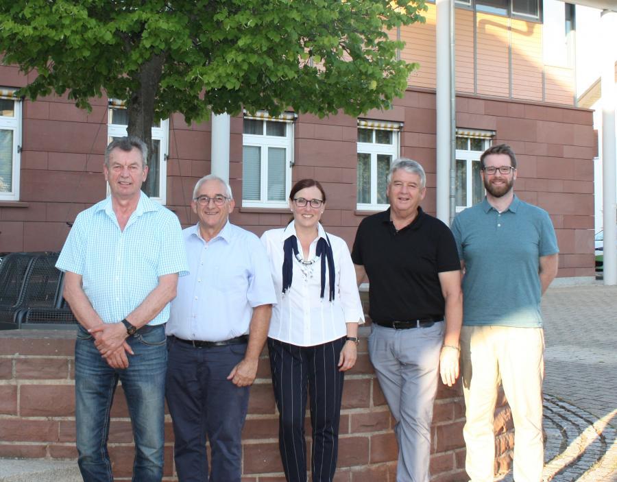 Bürgermeisterin mit ihren Stellvertretern