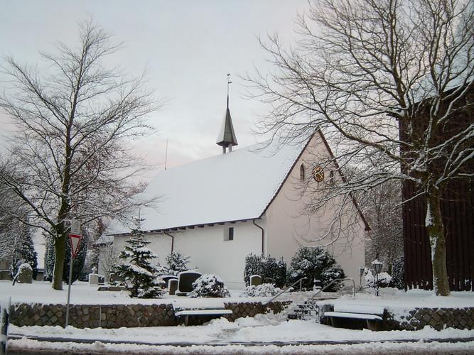 St. Marien-Madalenen Kirche im Winter