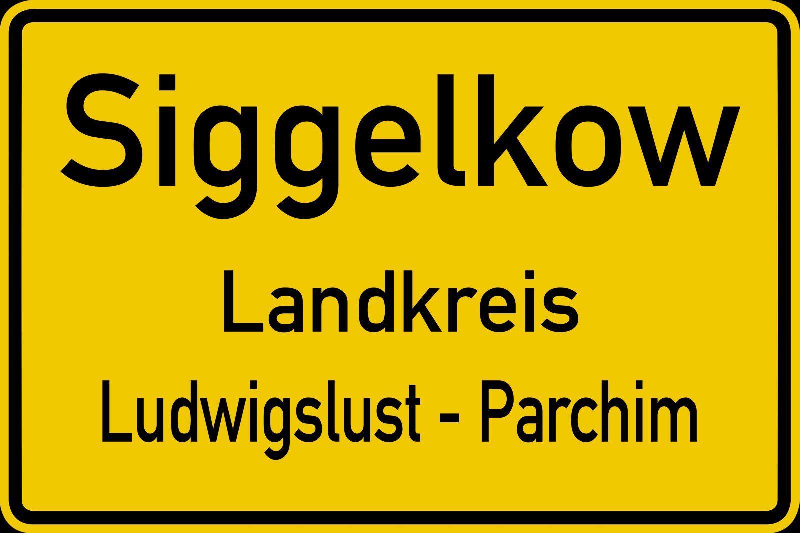 Ortsschild Siggelkow
