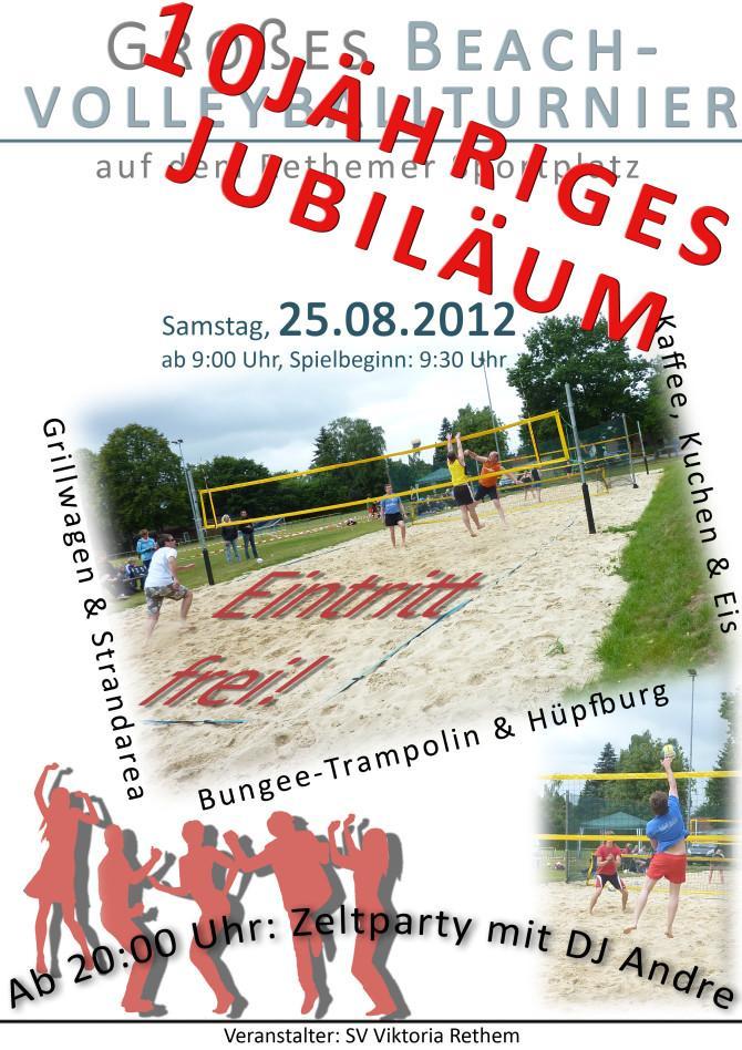 Plakat Beachvolleyball
