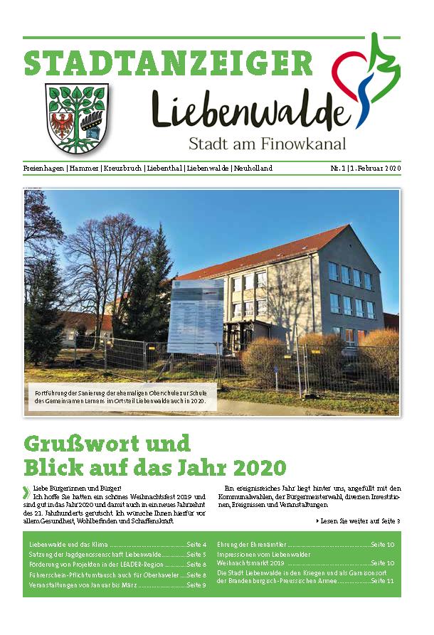 Stadtanzeiger 01/2020