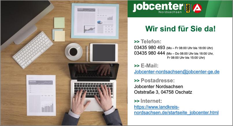 Erreichbarkeit des Jobcenters Nordsachsen