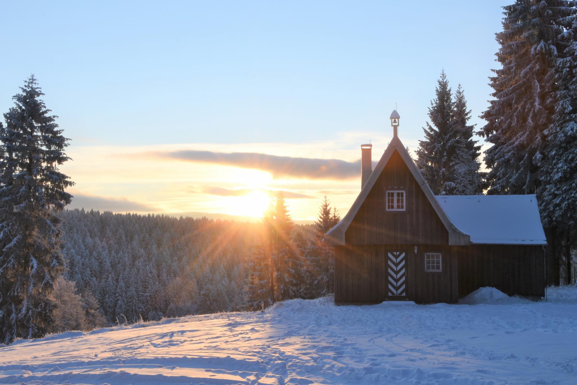 Abendstimmung Winter