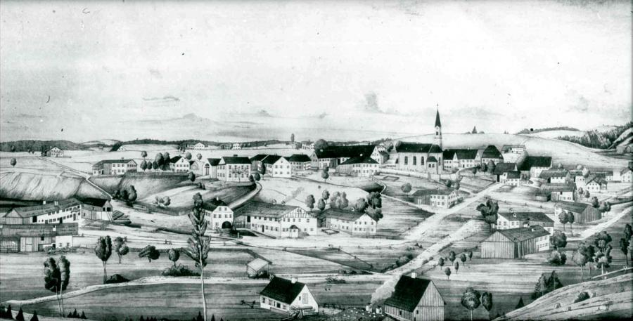 Goerisried vor dem großen Brand (ca. 1820)