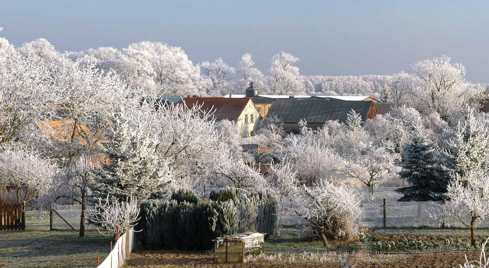 Holzhausen im Winter