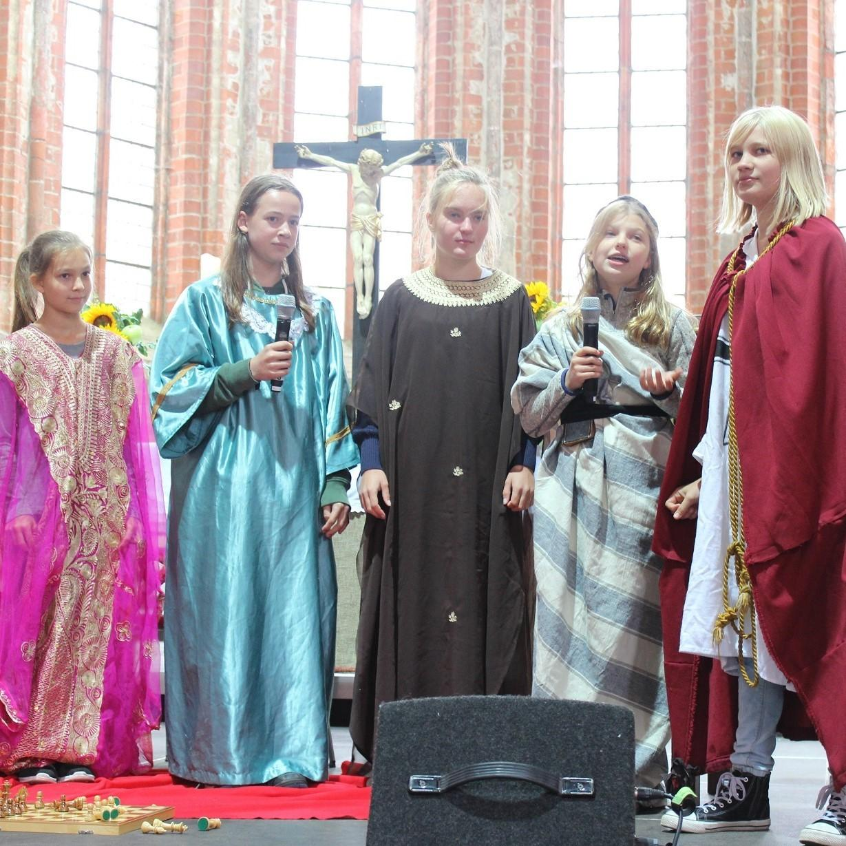Theateraufführung in Chorin