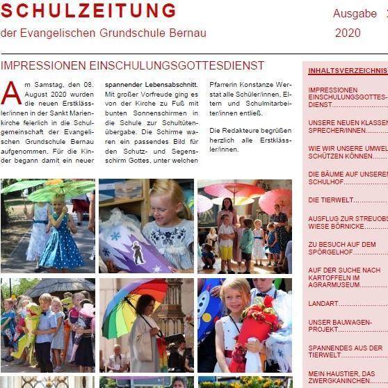 Aktuelle Ausgabe der Schulzeitung