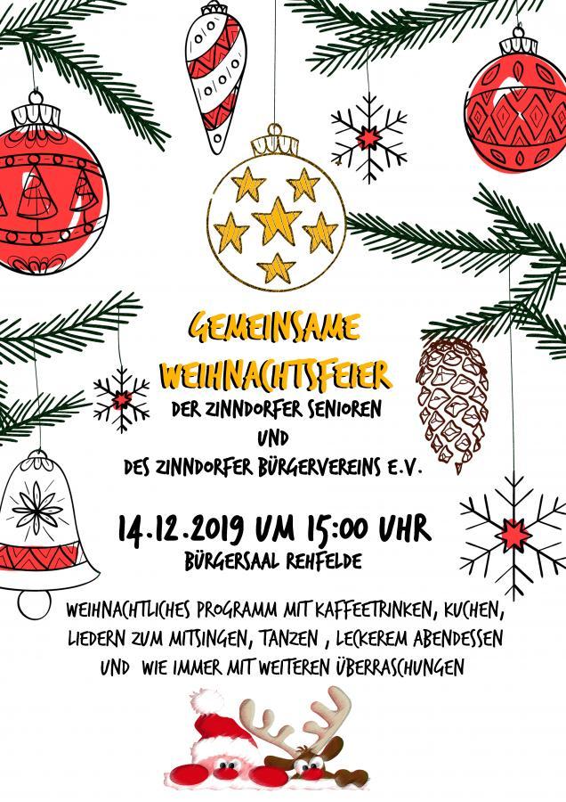 2019_ Weihnachtsfeier ZBV mit Senioren